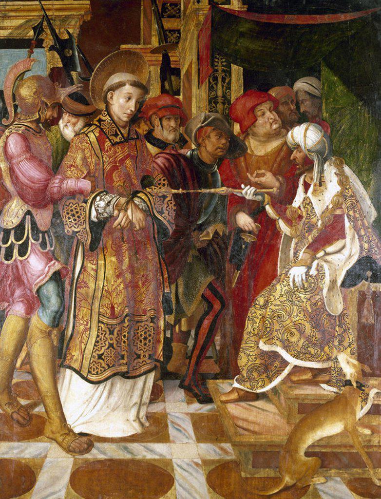 Stock Photo: 4409-39345 ARTE RENACIMIENTO. ESPAÑA. RETRATO DE SAN FELIX que data del s. XVI. Museo Diocesano. Girona. Cataluña.