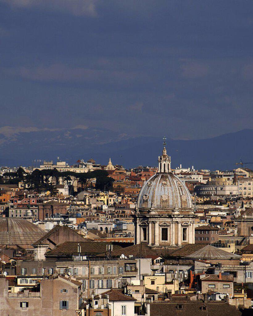 Stock Photo: 4409-39568 ITALIA. ROMA. Panorámica de la ciudad desde la Plaza Giuseppe Garibaldi.