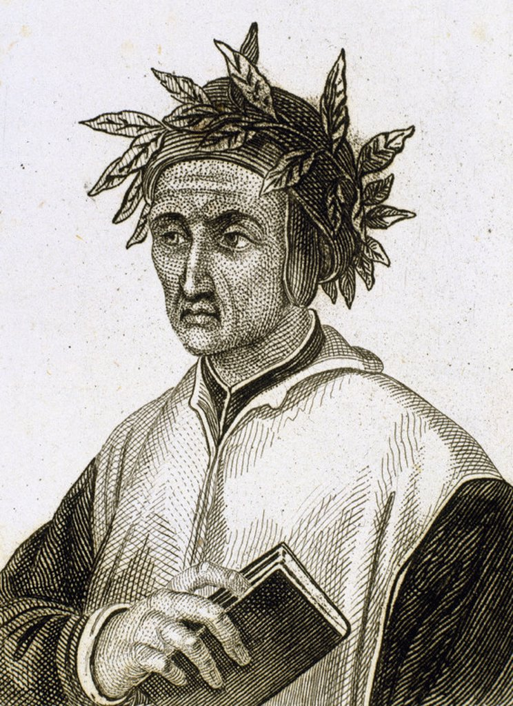 Stock Photo: 4409-39674 Dante Alighieri (1265-1321). Italian poet. Engraving.