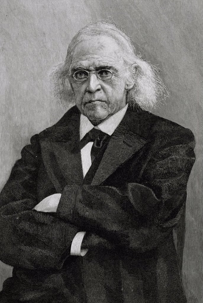 Theodor Mommsen (1817-1903). German jurist and historian. Engraving, early 20th century. : Stock Photo