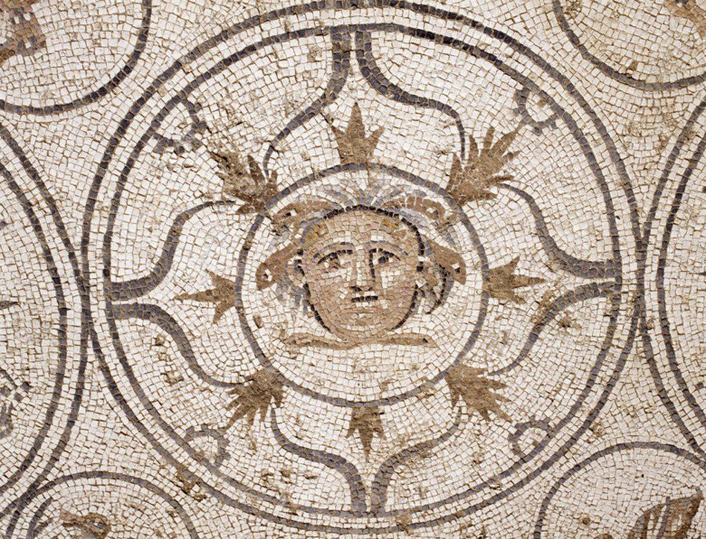 ARTE ROMANO. ESPAÑA. MOSAICO de una villa romana del siglo I. Marbella. Provincia de Málaga. Andalucía. : Stock Photo