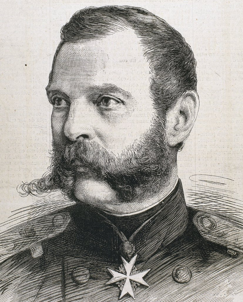 Stock Photo: 4409-40638 Alexander II (1818-1881). Tsar of Russia (1855-1881). Engraving.