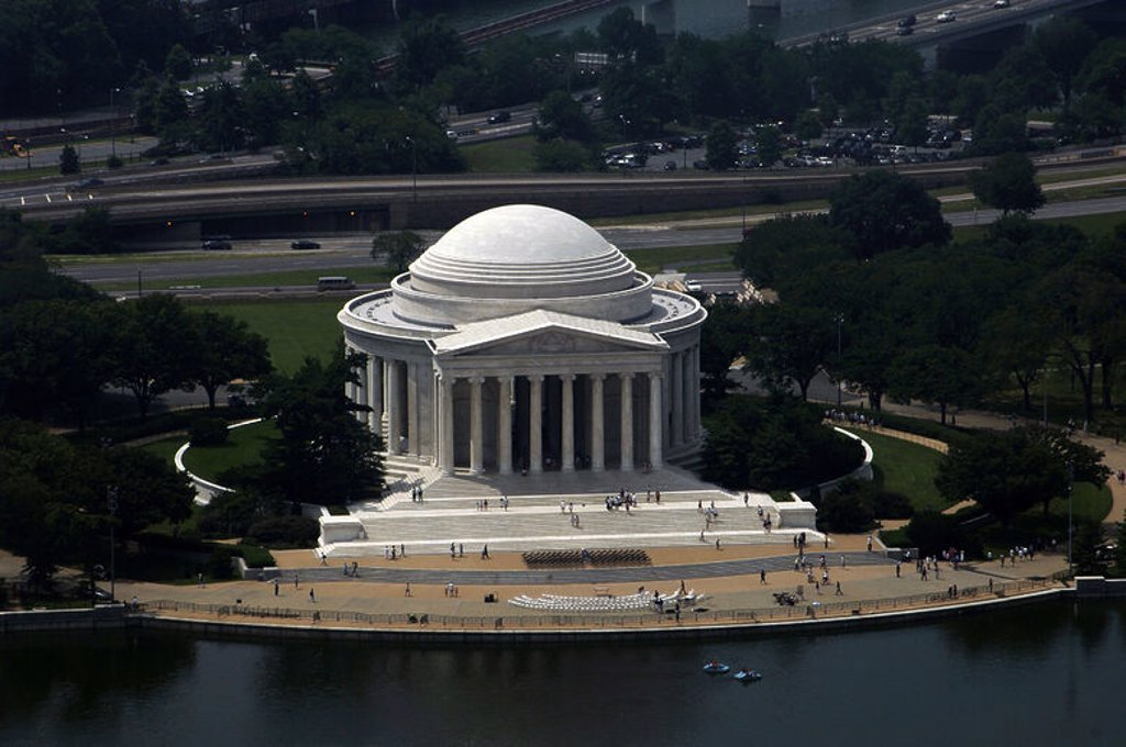 Stock Photo: 4409-40765 United States. Washington D.C. Thomas Jefferson Memorial. Dedicated to T. Jefferson, the 3rd President and one of the Founding Fathers of the United States (1743-1826). Principal author of the Declaration of Independence (1776).