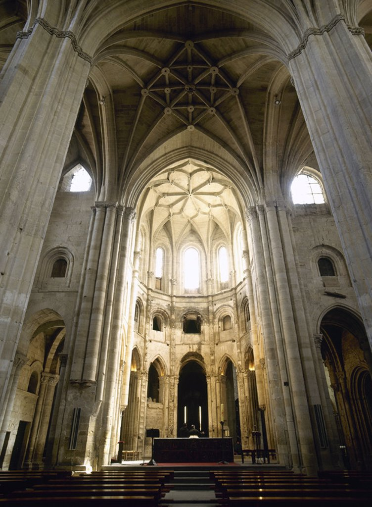 Spain. Cathedral of Saint Dominic of la Calzada. 15th - 16th centuries. Interior. : Stock Photo