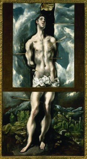 Stock Photo: 4409-41442 El Greco (1541-1614). Saint Sebastian. Prado Museum. Madrid. Spain.