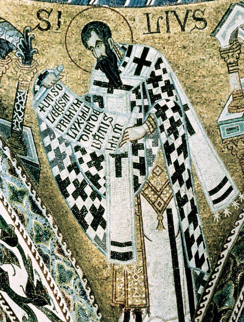 "ARTE BIZANTINO. ITALIA. ""SAN BASILIO"". Mosaico. S. XII-XIII (S. XII-S. XIII). Baptisterio de la Basílica de San Marcos. Venecia. : Stock Photo"