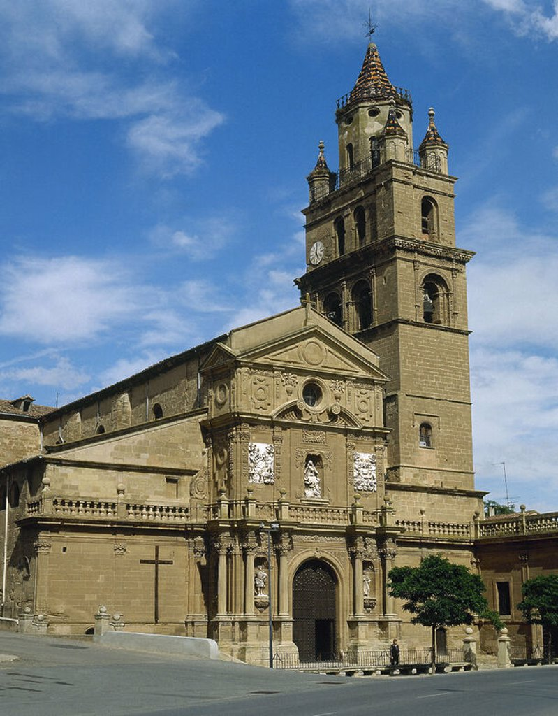 Stock Photo: 4409-41657 Spain. La Rioja. Calahorra. Cathedral built in the twelfth century, rebuilt in 1485 and completed in the 16th century with 18th century neo-classical facade.