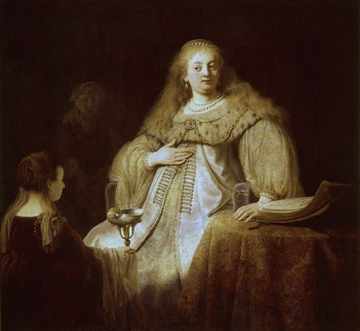 Stock Photo: 4409-4175 Dutch school. Artemisia. 1634. Oil on canvas (142 x 153). Madrid, Prado Museum. Author: REMBRANDT, HARMENSZOON VAN RIJN. Location: MUSEO DEL PRADO-PINTURA, MADRID, SPAIN.