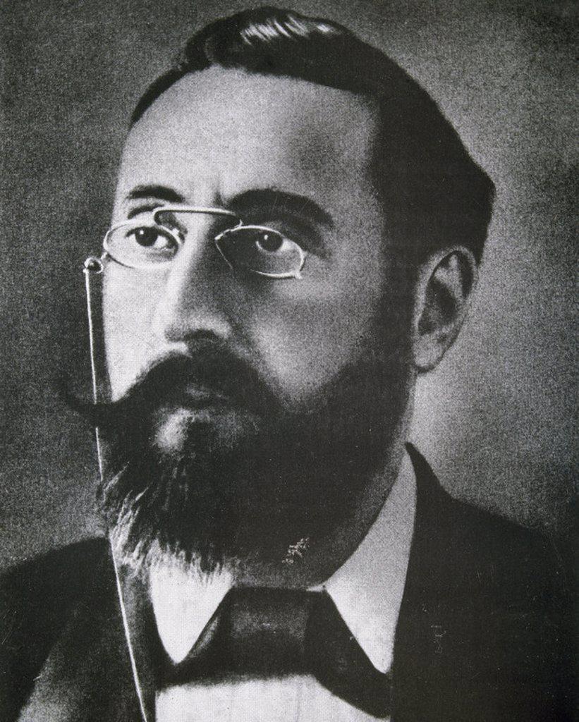 CURROS ENRIQUEZ, Manuel (Celanova,1851-La Habana, 1908). Poeta español. : Stock Photo