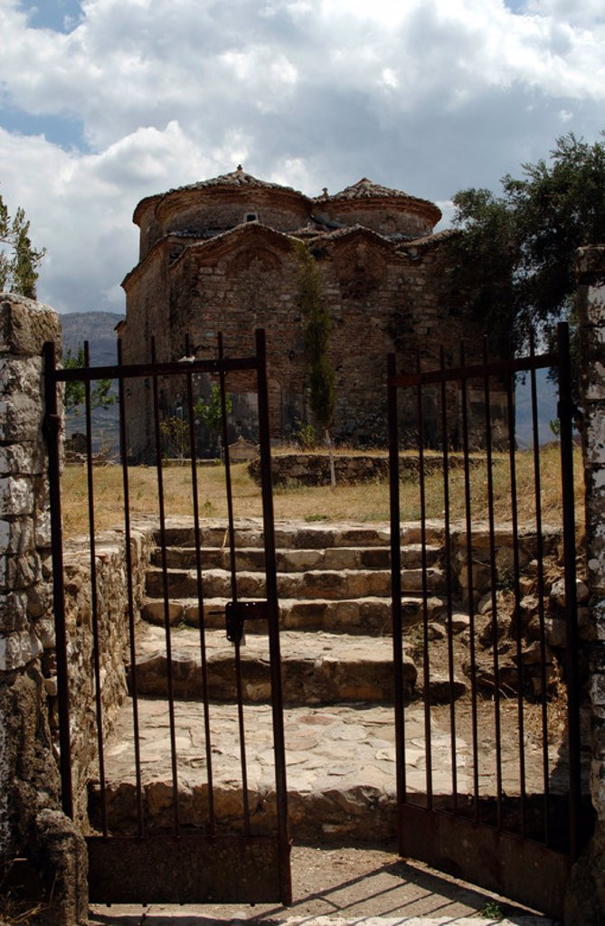 Stock Photo: 4409-43028 BYZANTINE ART. REPUBLIC OF ALBANIA. St. Nicholas Church, built in the XIII and remodeled in the eighteenth and nineteenth centuries. Mesopotam.