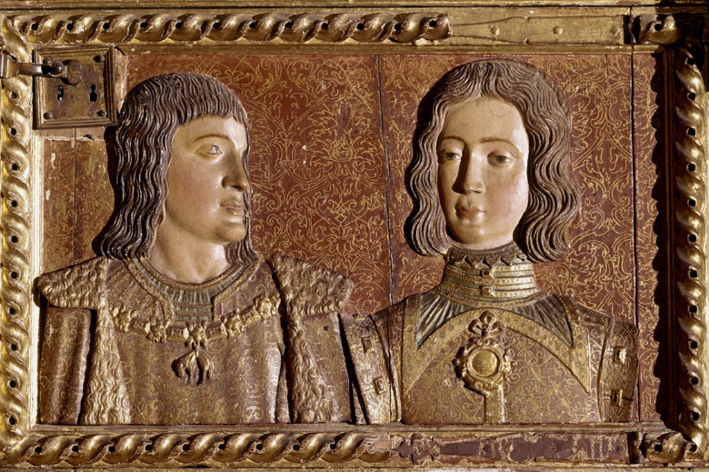 Stock Photo: 4409-4336 Joan and Philip the Handsome. Granada, Royal chapel. Author: MENA, ALONSO DE. Location: CATEDRAL-CAPILLA REAL-INTERIOR, GRANADA, SPAIN.