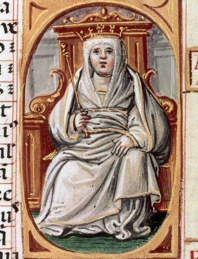"Stock Photo: 4409-43378 Urraca of Leo´n and Castile (1079–1126). Queen regnant of Leo´n, Castile, and Galicia (1109-1126). Portrait from ""Genealogies of the Kings of Spain"" (1526-1535). National Library. Madrid. Spain."