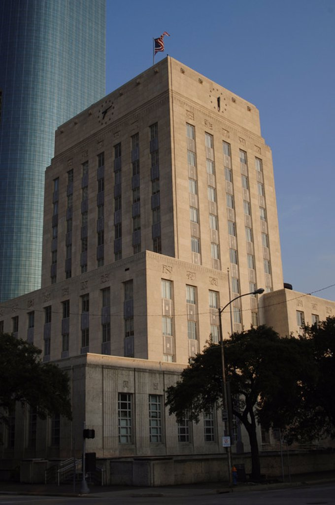 Stock Photo: 4409-43396 AYUNTAMIENTO DE HOUSTON. Vista exterior. Estado de Texas. Estados Unidos.