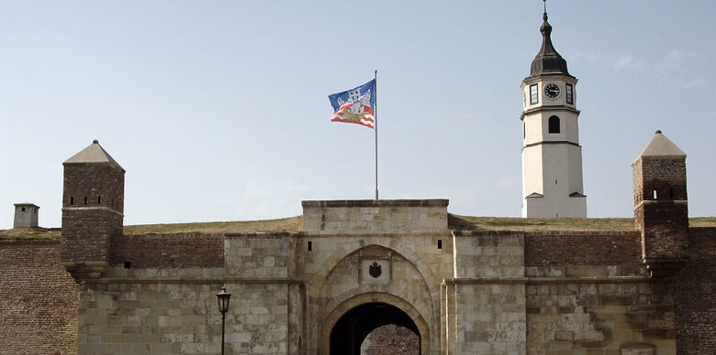 Serbia. Belgrade. Stambol Gate. Kalemegdan Fortress, built by Stefan Lacarevic in 14th century. Rebuilt in the 18th century. : Stock Photo