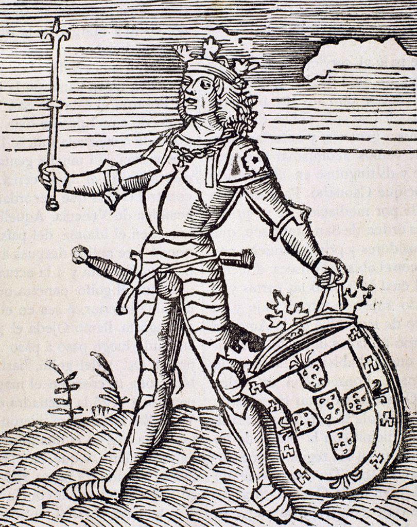 Stock Photo: 4409-44127 Vespucci, Amerigo (1454-1512). Italian navigator, explorer and cartographer. Engraving.