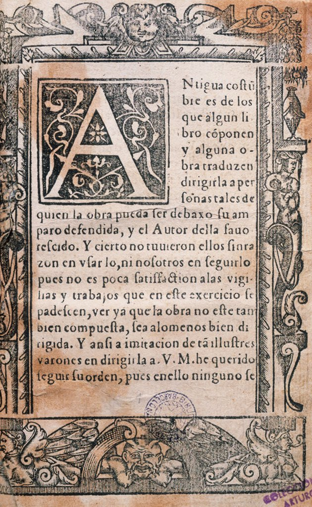 Stock Photo: 4409-44286 Juan de Iciar (1522-1573). Spanish calligrapher. Ortographia practica. Prince Edition. Printed in Zaragoza, 1548. Library of Catalonia. Barcelona. Spain.