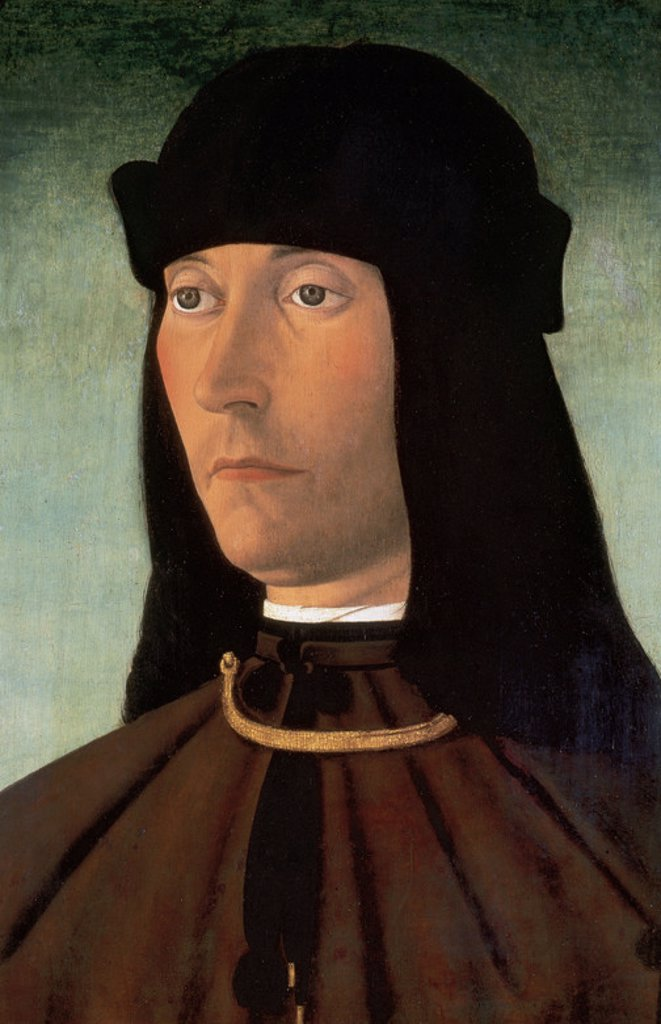 Stock Photo: 4409-44603 Alessandro of Richao (1491). Oil on wood  by Philip Mazzola. Italy.