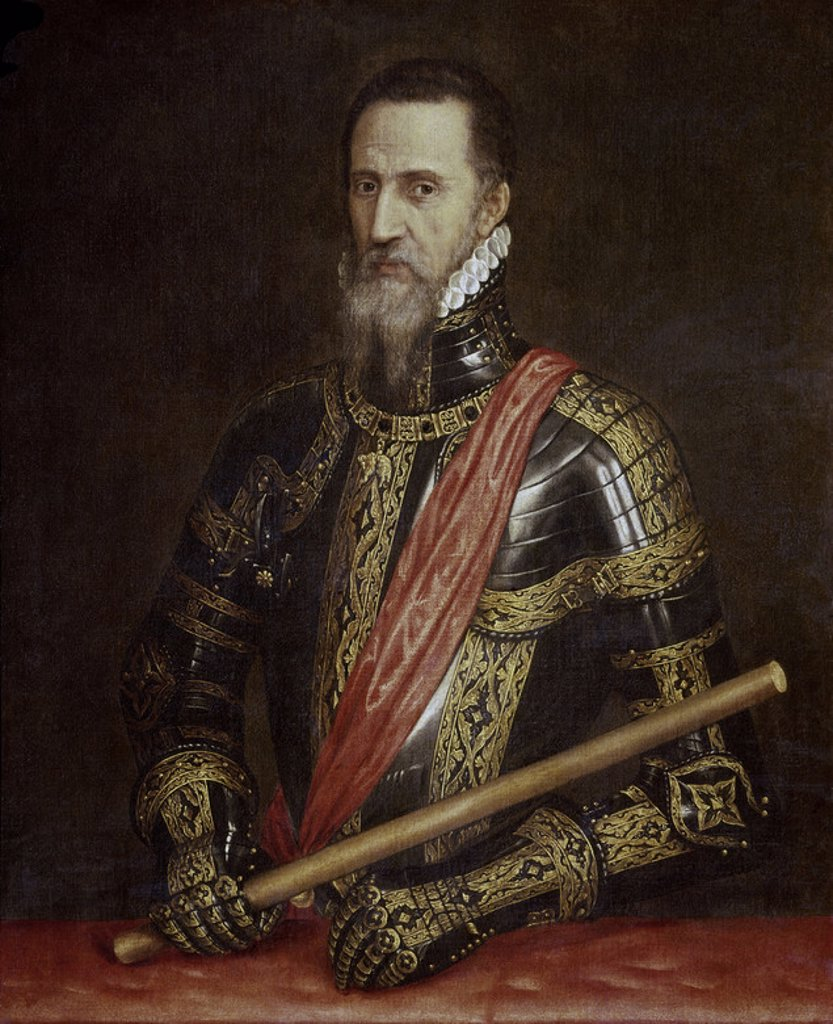 Stock Photo: 4409-4478 Fernando Alvarez de Toledo (1507-1582). Great Duke of Alba. 107 x 97. Madrid, Collection of the Dukes of Alba. Author: TITIAN. Location: PRIVATE COLLECTION, MADRID, SPAIN.