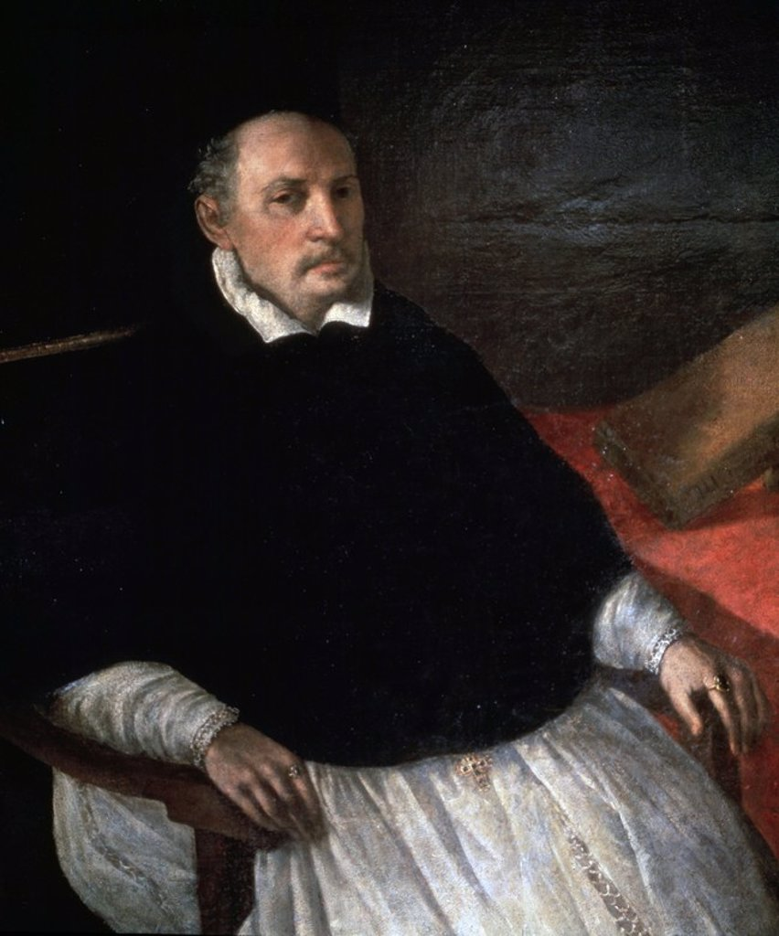 Stock Photo: 4409-45197 Diego Deza (1443-1523). Spanish theologian and inquisitor. Portrait (detail) by Francisco Zurbaran. Prado Museum. Madrid. Spain.
