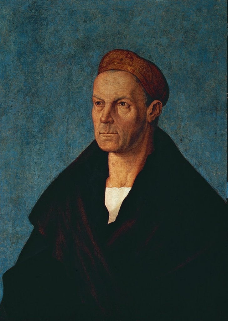 RETRATO DE JACOB FUGGER (1459-1525) - BANQUERO Y COMERCIANTE - RENACIMIENTO ALEMAN. Author: DURER, ALBRECHT. Location: PRIVATE COLLECTION, MUNICH, DEUTSCHLAND. : Stock Photo