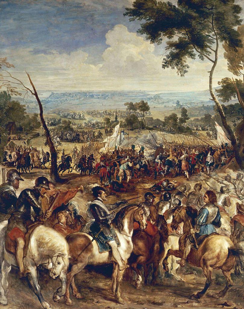 Stock Photo: 4409-4568 ENRIQUE IV FRANCIA(O III NAVARRA DE 1562-1610)EN LA BATALLA DE SAN MARTIN DE LA IGLESIA. Author: RUBENS, PETER PAUL.