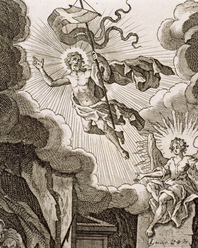 Stock Photo: 4409-45970 Luke 24. Resurrection of Jesus. Engraving.