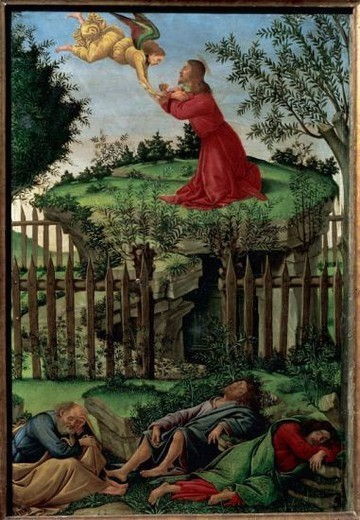 Stock Photo: 4409-46107 Sandro Botticelli (1445-1510). Italian painter. Prayer of the Garden (1498-1500). Royal Chapel. Granada. Spain.