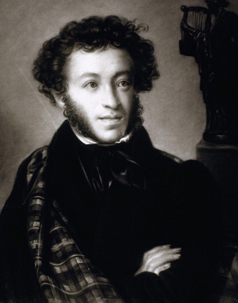 PUSHKIN, Aleksandr Sergeevic (1799-1837). Poeta ruso. : Stock Photo