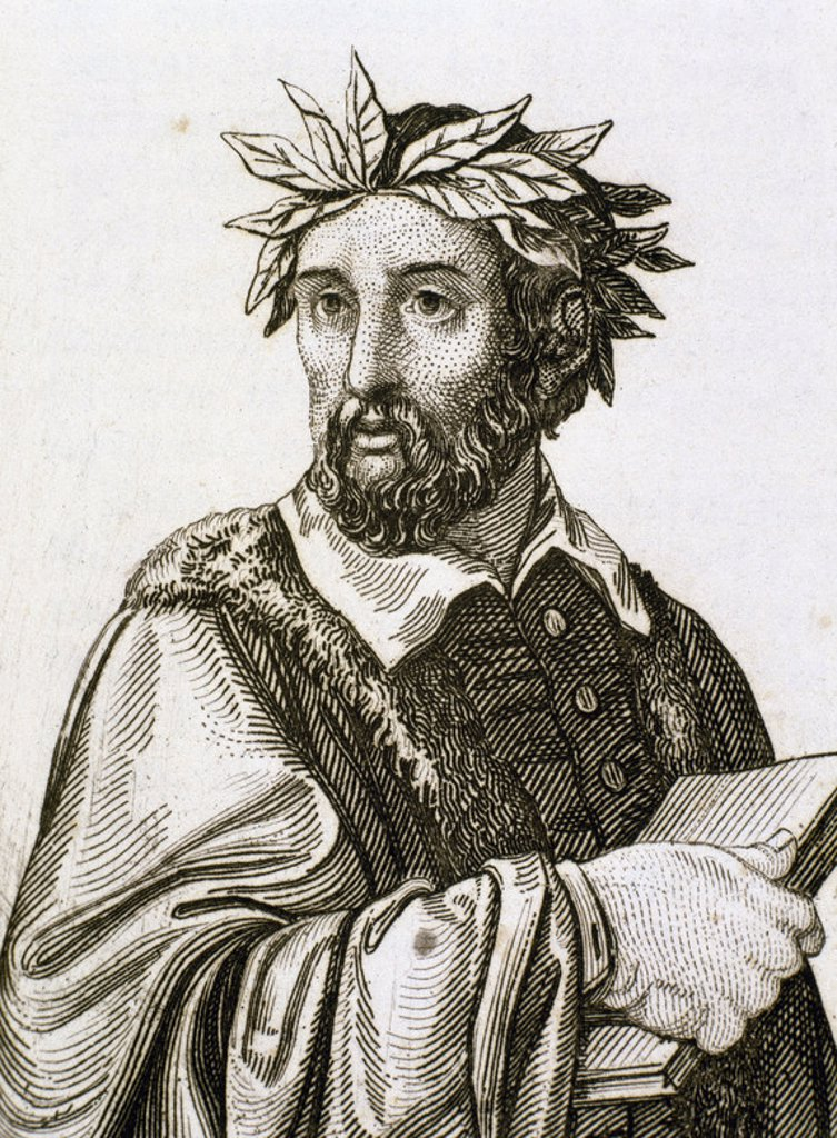 Stock Photo: 4409-46523 Torquato Tasso (1544-1595). Italian poet. Engraving.