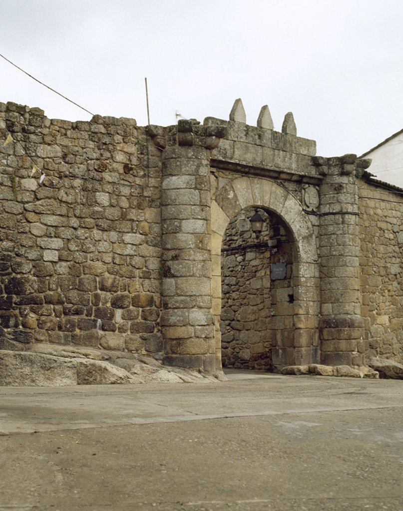 Stock Photo: 4409-47294 Spain. Galicia. Ribadavia. Entrance to the Jewish quarter.
