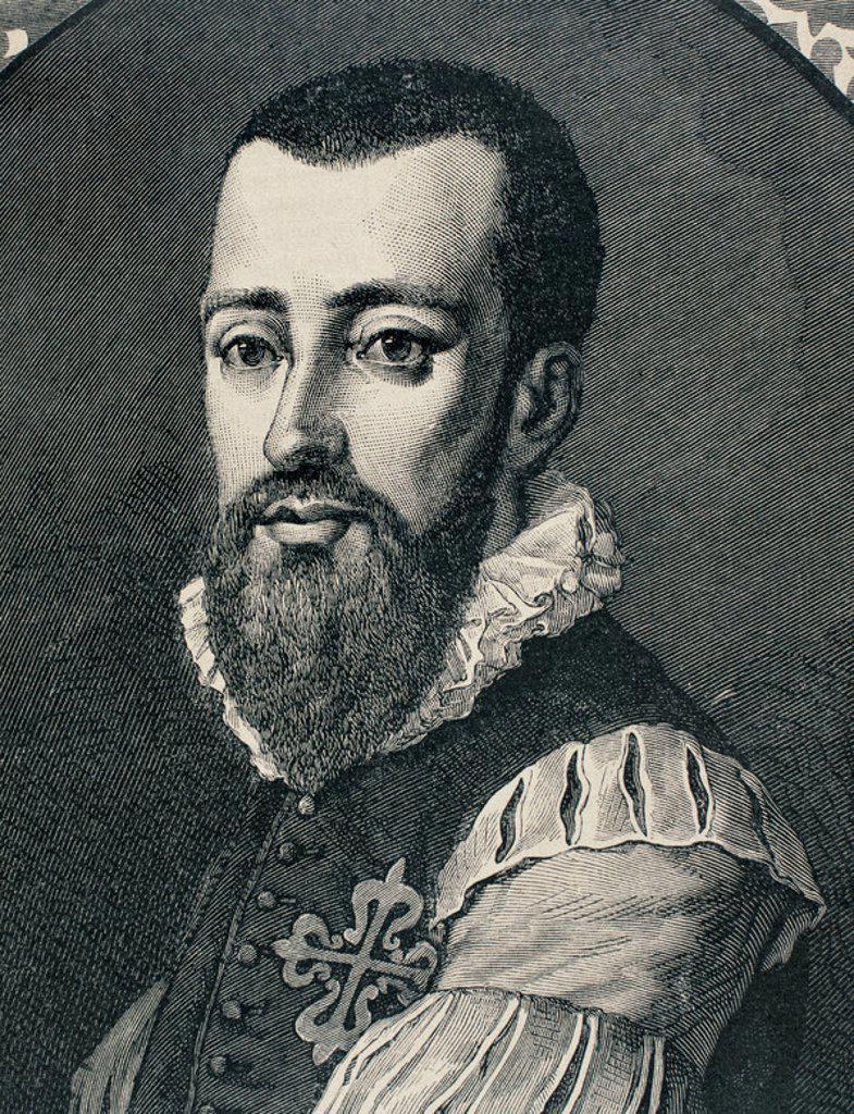 Stock Photo: 4409-47809 Garcilaso de la Vega (c. 1501-1536). Spanish poet. Engraving, 1883.