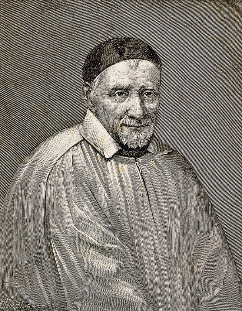 Stock Photo: 4409-47883 Saint Vincent de Paul (1581-1660). French religious, called the Apostle of Charity. Dedicated to serving the poor. Engraving.