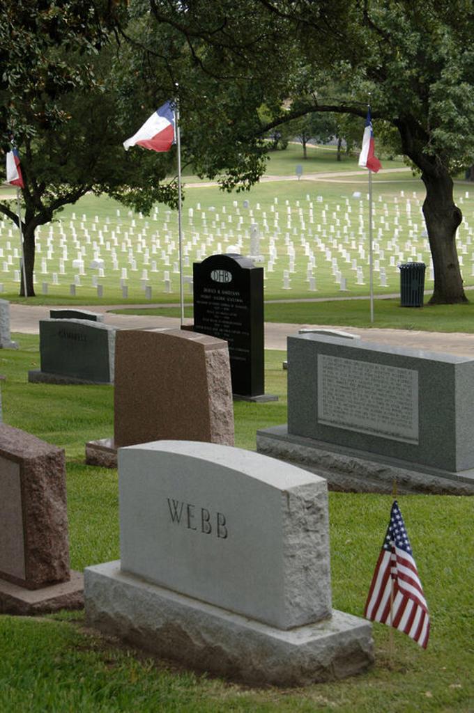 Stock Photo: 4409-47978 CEMENTERIO ESTATAL DE TEXAS. TUMBAS. AUSTIN. Estado de Texas. Estados Unidos.