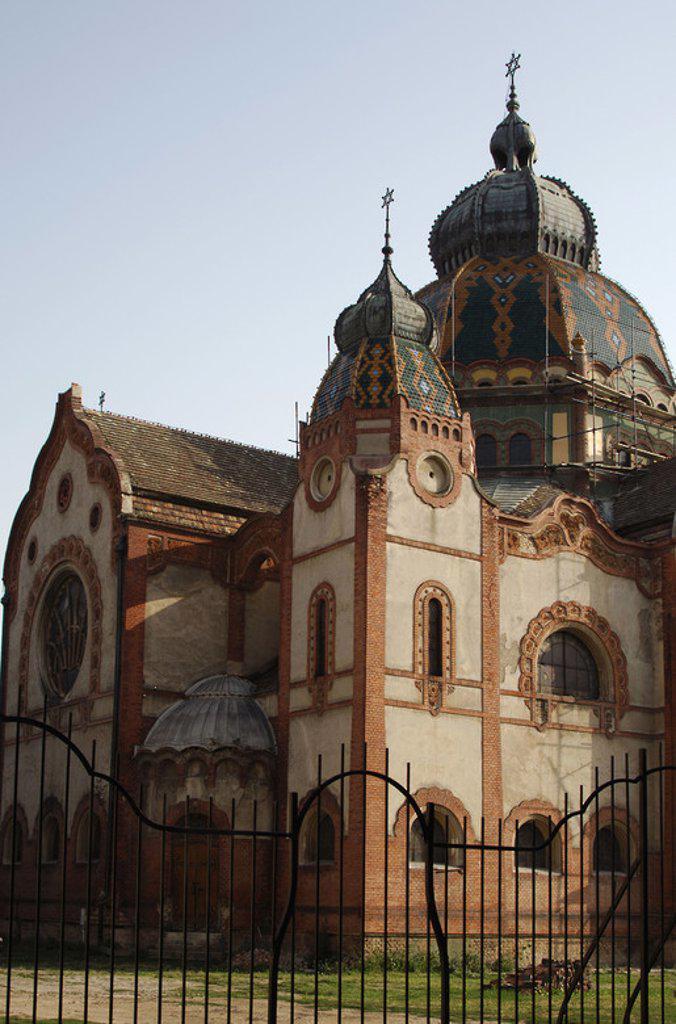 Republic of Serbia. Subotica. Jewish synagogue. 1901-1902. Exterior. : Stock Photo