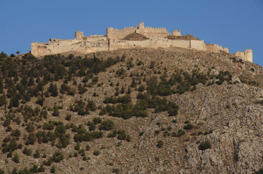 Greece. Argos. Kastro Larissa. Castle on Larissa Hill (12th century), converted into a Venetian citadel at the 14th century. Peloponnese Region. : Stock Photo