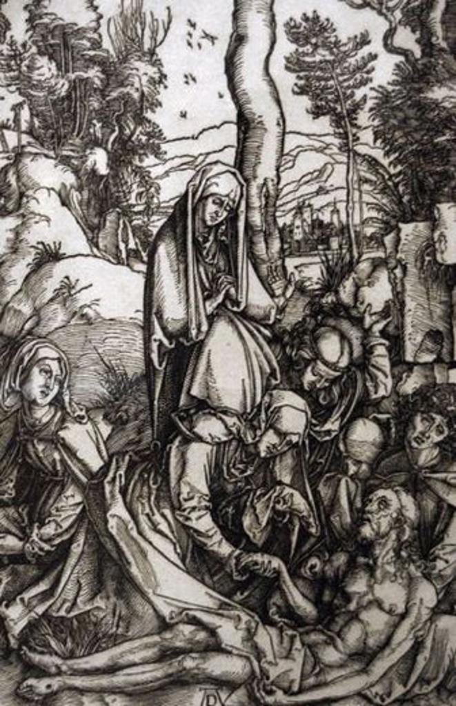 """Stock Photo: 4409-49121 ARTE RENACIMIENTO. ALEMANIA. ALBERTO DURERO (Nuremberg, 1471-Nuremberg, 1528). Pintor y grabador alemán. """"LA PASION: LAMENTO POR CRISTO"""" (1511). Grabado. Instituto de Arte de Chicago. Estado de Illinois. Estados Unidos."""