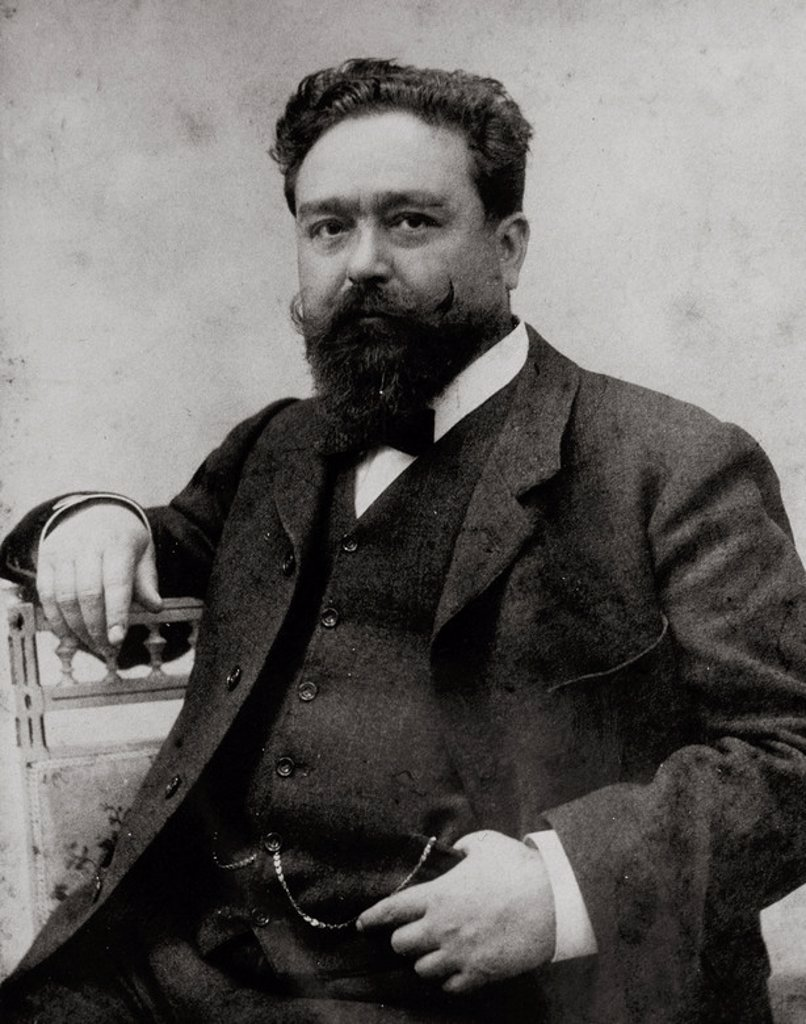 ALBENIZ, Isaac (Camprodón,1860-Cambo-les-Bains, 1909). Compositor y pianista español. Fotografía. : Stock Photo