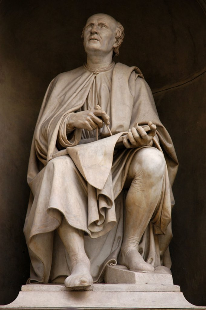 BRUNELLESCHI, Filippo (Florencia, 1377-Florencia, 1446). Escultor italiano. Estatua con la representación de Brunelleschi. FLORENCIA. La Toscana. Italia. : Stock Photo