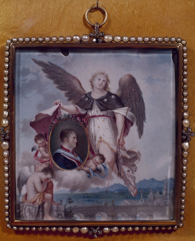 Stock Photo: 4409-5496 ALEGORIA DE FERNANDO VII. Location: MUSEO LAZARO GALDIANO-COLECCION, MADRID, SPAIN.