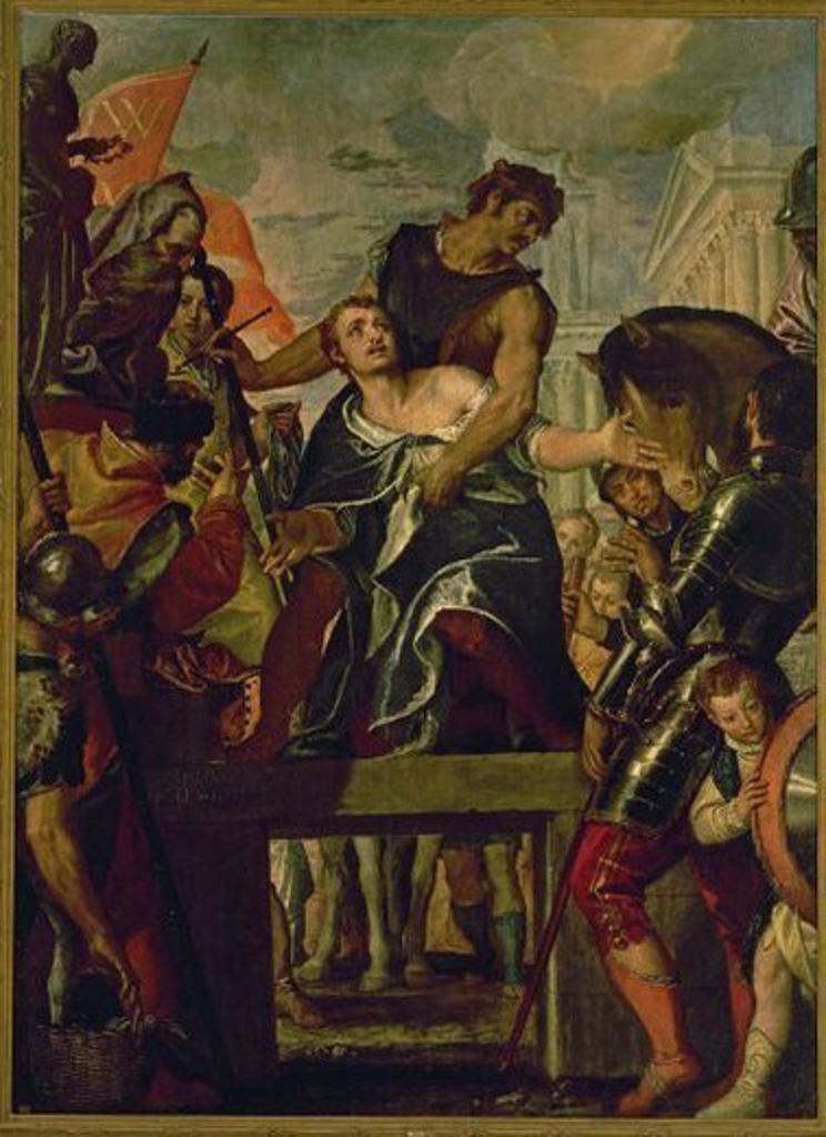 Stock Photo: 4409-55079 Paolo Veronese (1528-1588). Italian painter. The Martyrdom of Saint Menas. 1580. Prado Museum. Madrid. Spain.