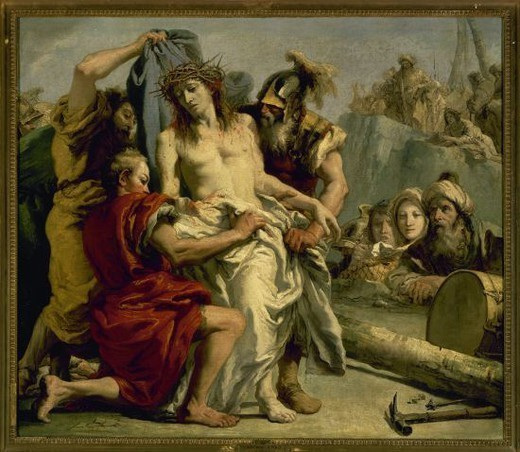 Stock Photo: 4409-55080 Giovanni Domenico Tiepolo (1727-1804). Italian painter. The Spoliation of Christ. 1772. Prado Museum. Madrid. Spain.