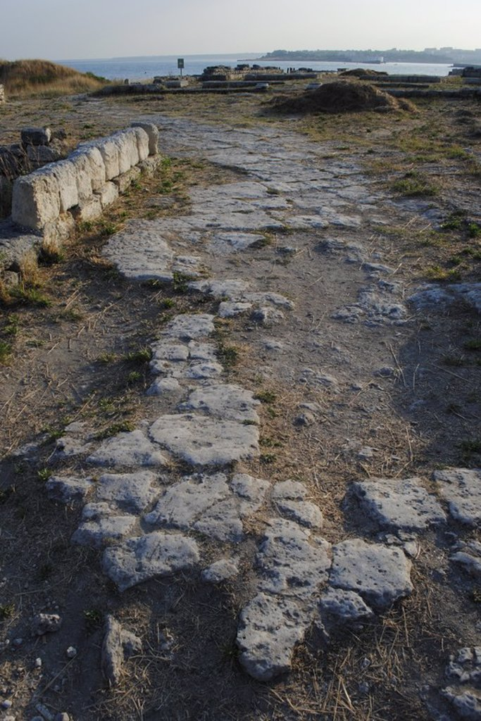 Stock Photo: 4409-55546 Ukraine. Chersonesus Taurica. 6th century BC. Greek colony occupied later by romans and byzantines. Ruins. Sevastopol.
