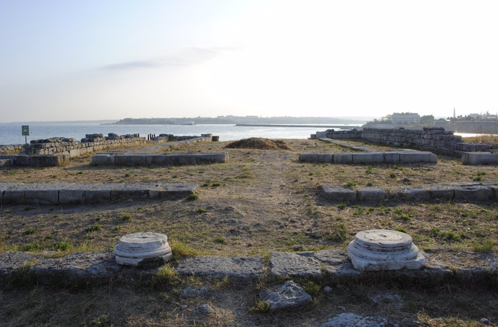 Ukraine. Chersonesus Taurica. 6th century BC. Greek colony occupied later by romans and byzantines. Ruins. Sevastopol. : Stock Photo