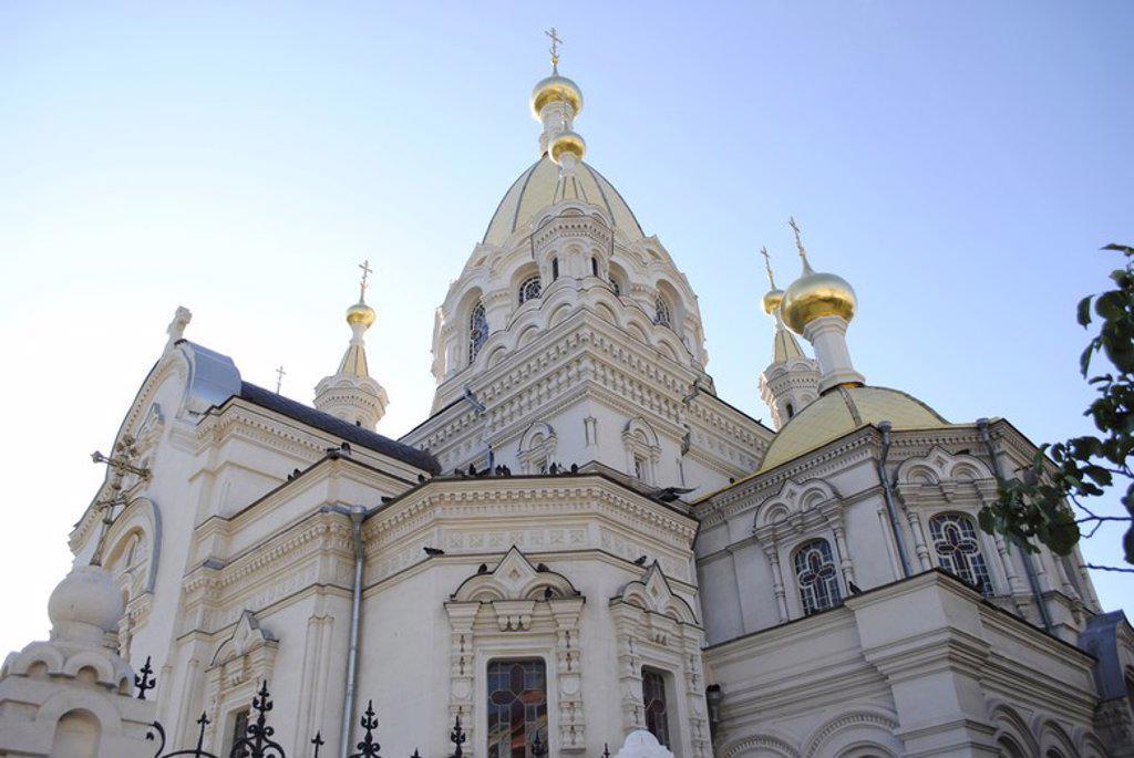 Ukraine. Sevastopol. Pokrovsky Orthodox Cathedral. Exterior. Built from 1892 to 1905 by architect Valentin Feldman. Crimean Peninsula. : Stock Photo