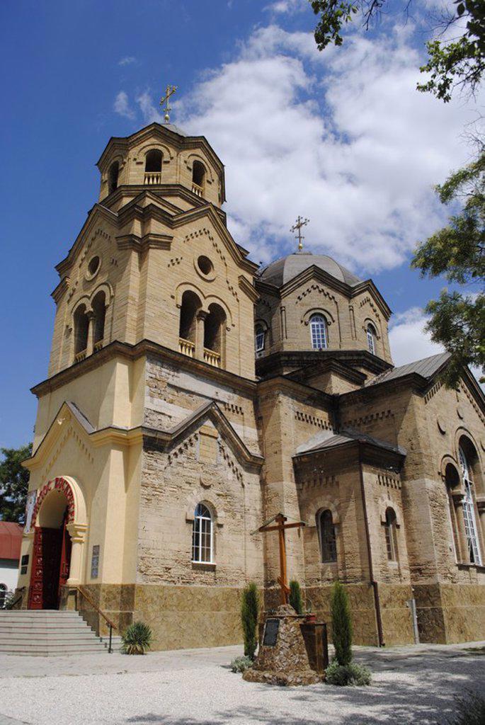 Ukraine. Autonomous Republic of Crimea. Yevpatoria. Church of Saint Elias built by Adam L. Genrikh. 20th century. Facade. : Stock Photo