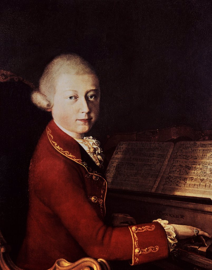 Stock Photo: 4409-5591 RETRATO DE WOLFGANG AMADEUS MOZART - 1770. Author: ROSA SAVERIO DALLA.