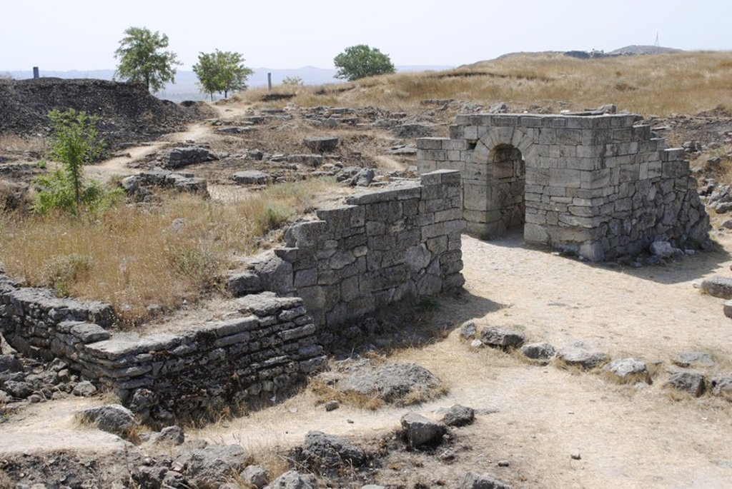 Stock Photo: 4409-55915 Ukraine. Autonomous Republic of Crimea. Panticapaeum archaeological site, founded in 575 BC by Greek colonists from Miletus, on Mount Mithridat. Kerch.