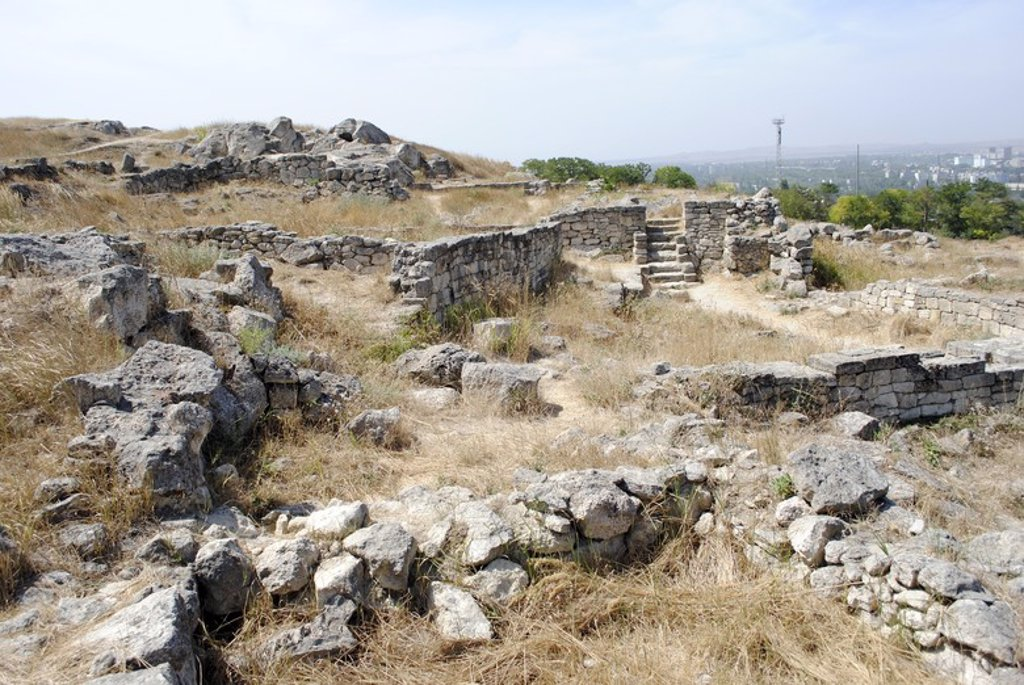 Stock Photo: 4409-55916 Ukraine. Autonomous Republic of Crimea. Panticapaeum archaeological site, founded in 575 BC by Greek colonists from Miletus, on Mount Mithridat. Kerch.