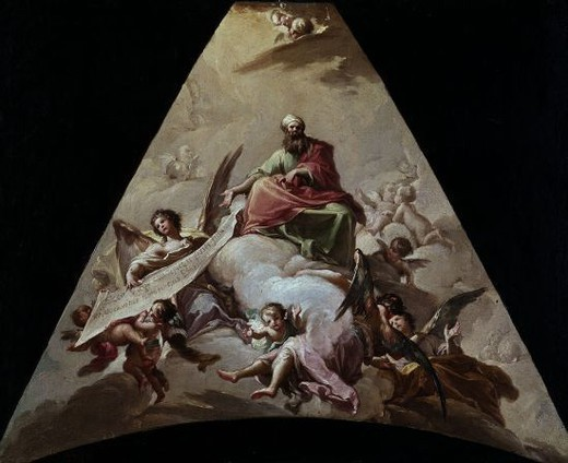 Stock Photo: 4409-5621 LA PROFECIA DE ISAIAS - 1778 - OLEO/LIENZO - 47x57 - NP 2489. Author: BAYEU FRANCISCO. Location: MUSEO DEL PRADO-PINTURA, MADRID, SPAIN.