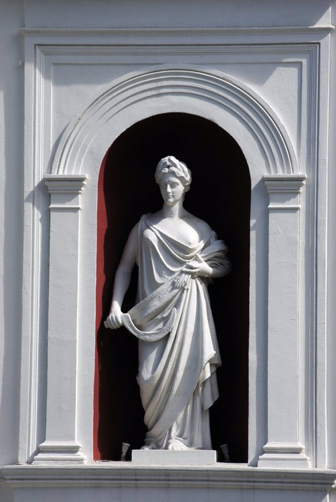 Stock Photo: 4409-56410 UCRANIA. ODESA. Detalle de una escultura que decora la fachada del ayuntamiento de la ciudad. Europa oriental.